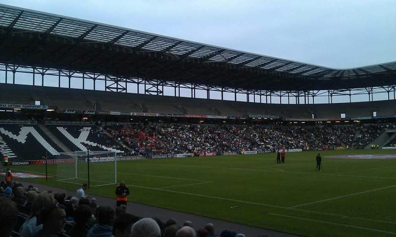 Seating view for stadium:mk