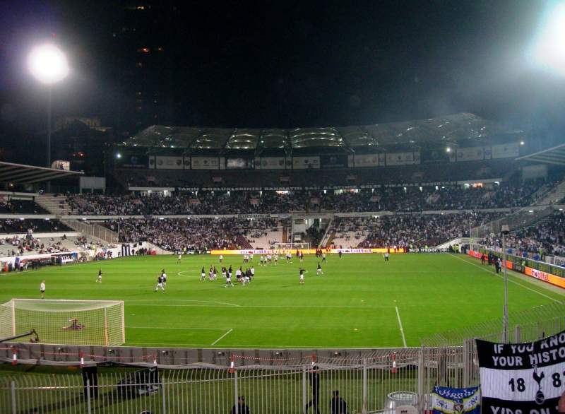 Seating view for BJK Inönü Stadium Section Visitors Section
