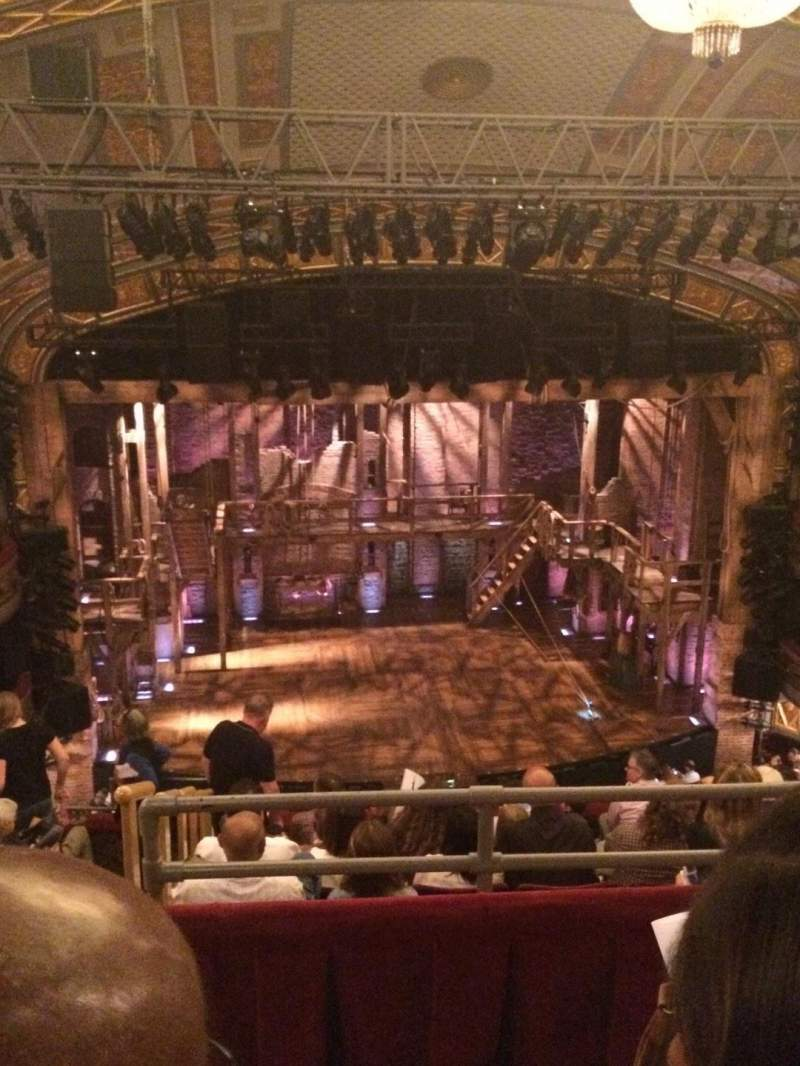 Seating view for Richard Rodgers Theatre Section Rear Mezz Row B Seat 114