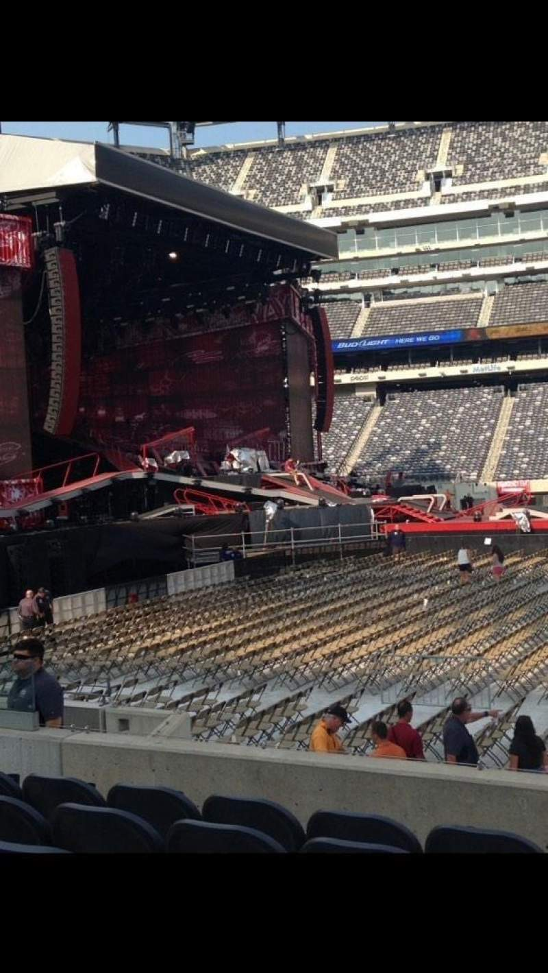 Seating view for MetLife Stadium Section 140 Row 11