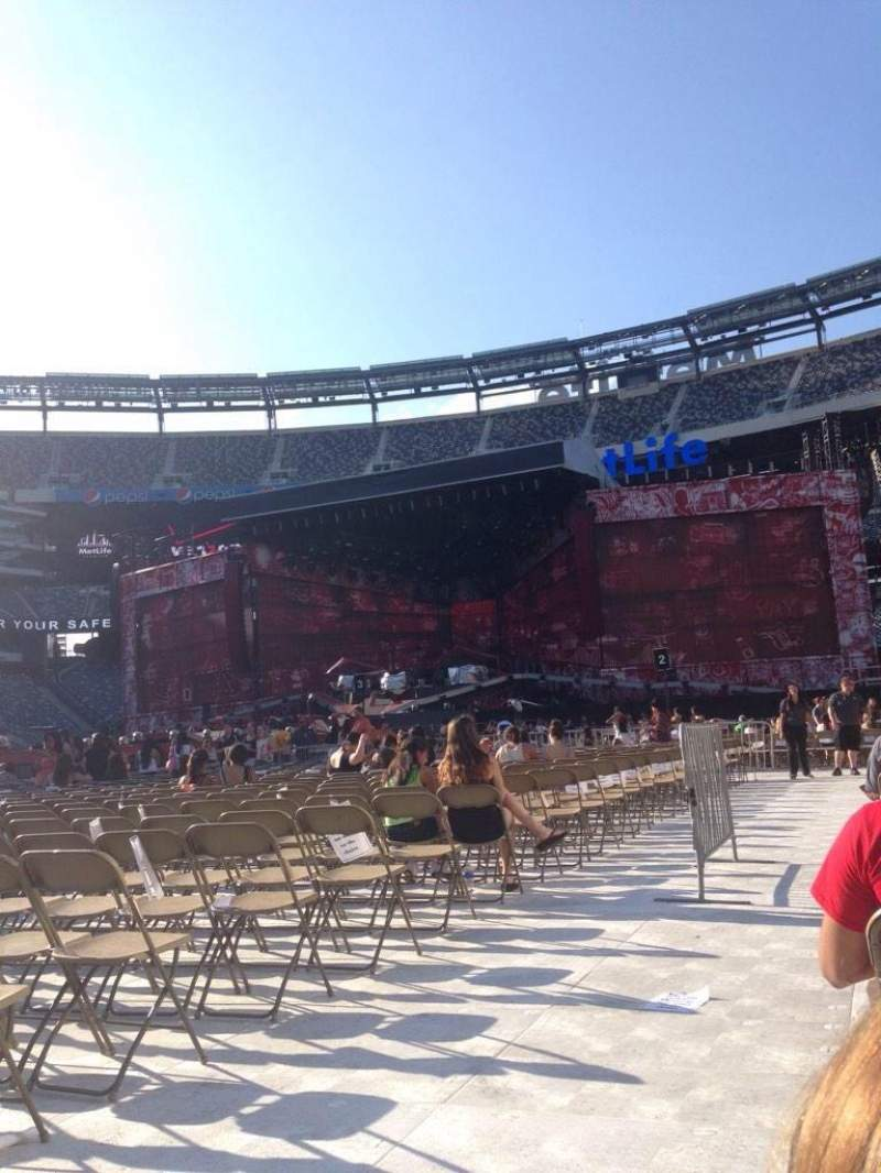 Seating view for Metlife Stadium Section 7