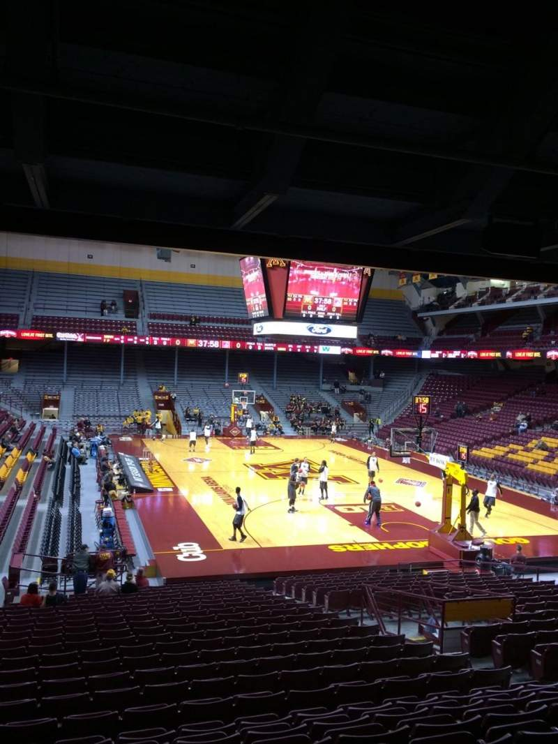 Seating view for Williams arena Section 102 Row 24 Seat 9