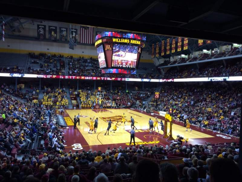 Williams Arena, section: 102, row: 23, seat: 7