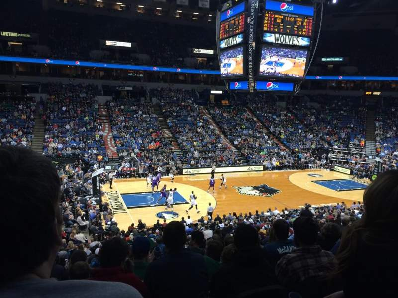 Seating view for Target Center Section 113 Row X Seat 10
