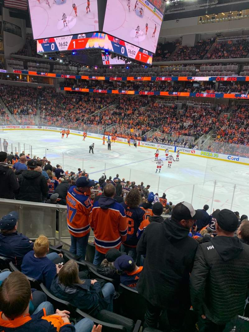 Seating view for Rogers Place Section 117 Row 19 Seat 11
