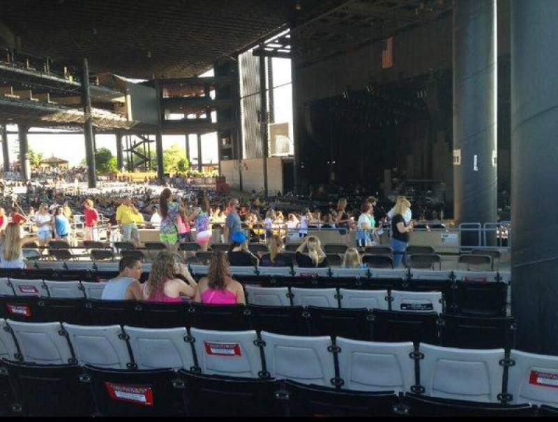 Seating view for Hollywood Casino Amphitheatre (Tinley Park) Section 203 Row WW Seat 1-3