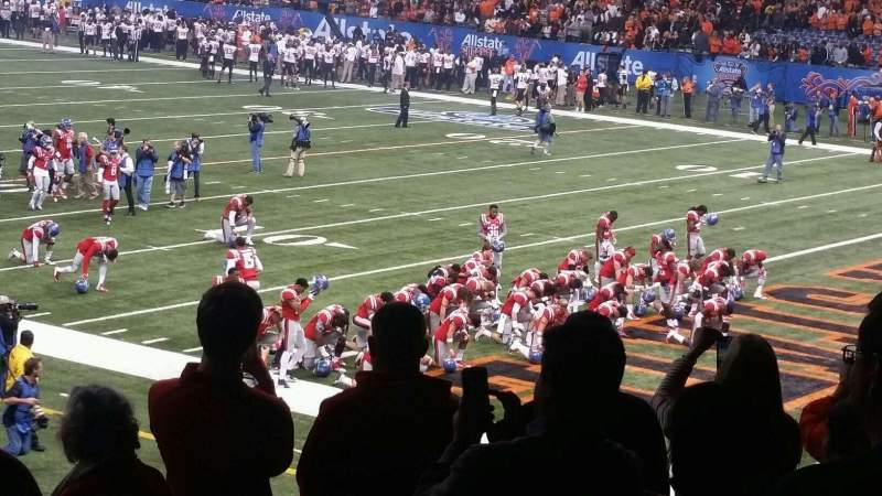 Mercedes-Benz Superdome, section: 135, row: 31, seat: 1,2,3