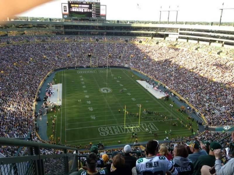Seating view for Lambeau Field Section 746s Row 9 Seat 8