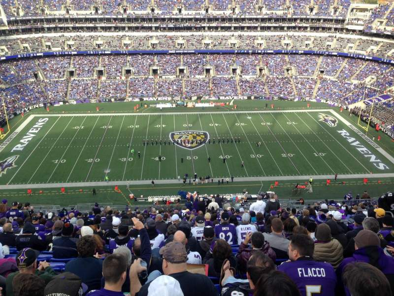 Seating view for M&T Bank Stadium Section 527 Row 29 Seat 3-4