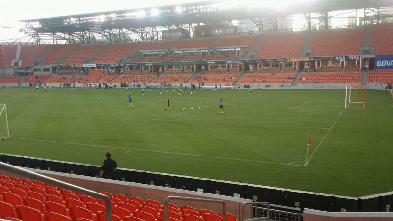 Seating view for BBVA Compass Stadium Section 122 Row k Seat 20