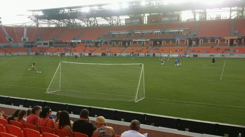 Seating view for BBVA Compass Stadium Section 124 Row g Seat 1