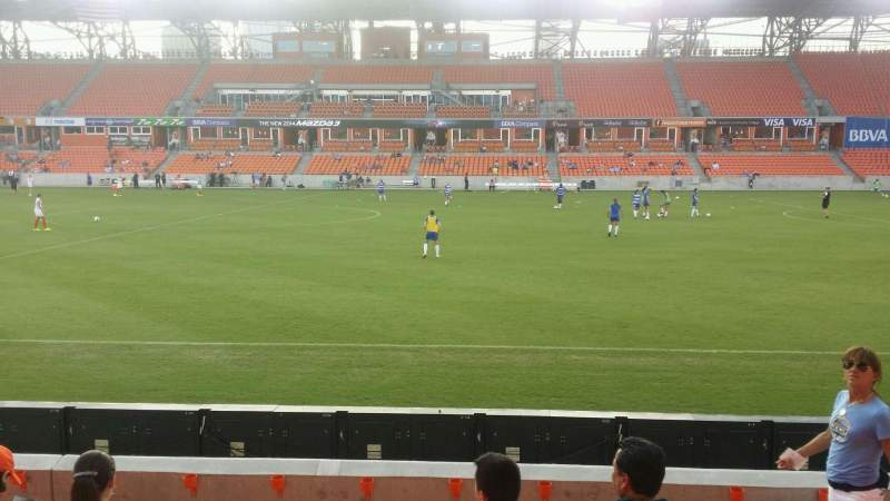 Seating view for BBVA Compass Stadium Section 125 Row f Seat 10