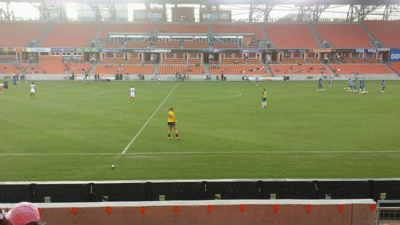 Seating view for BBVA Compass Stadium Section 126 Row g Seat 6