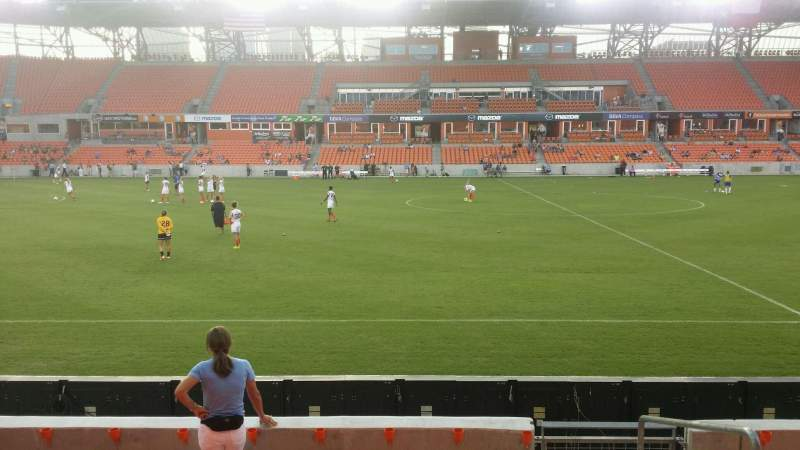 Seating view for BBVA Compass Stadium Section 127 Row g Seat 2