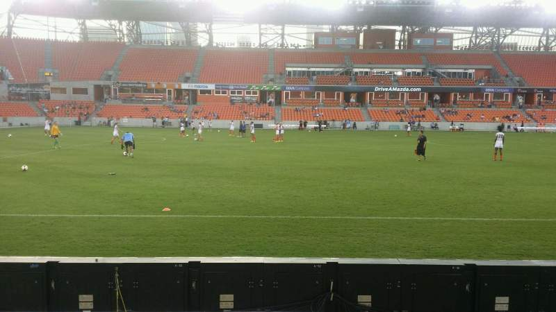 Seating view for BBVA Compass Stadium Section 128 Row c Seat 1