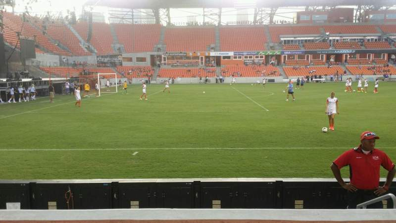 Seating view for BBVA Compass Stadium Section 129 Row d Seat 4