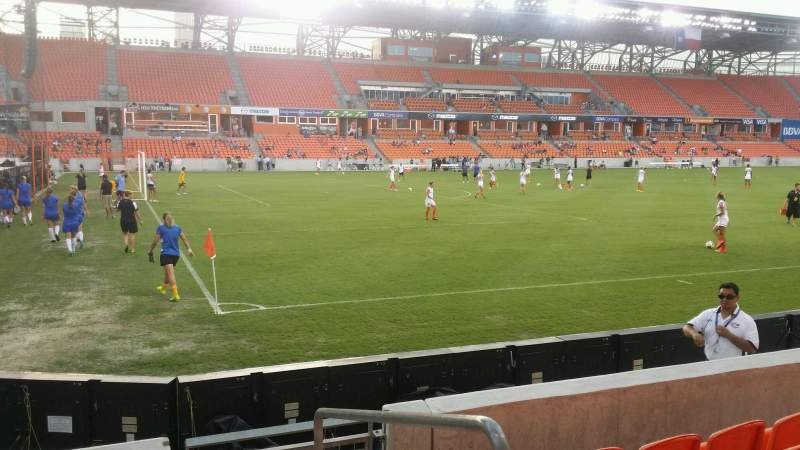 Seating view for BBVA Compass Stadium Section 130 Row e Seat 1