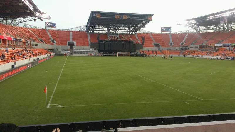 Seating view for BBVA Stadium Section 118 Row h Seat 1