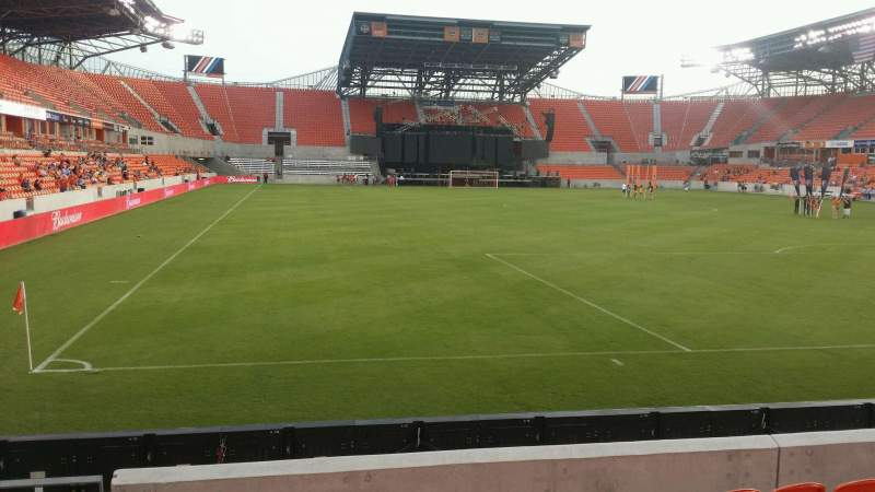 Seating view for BBVA Compass Stadium Section 117 Row g Seat 26