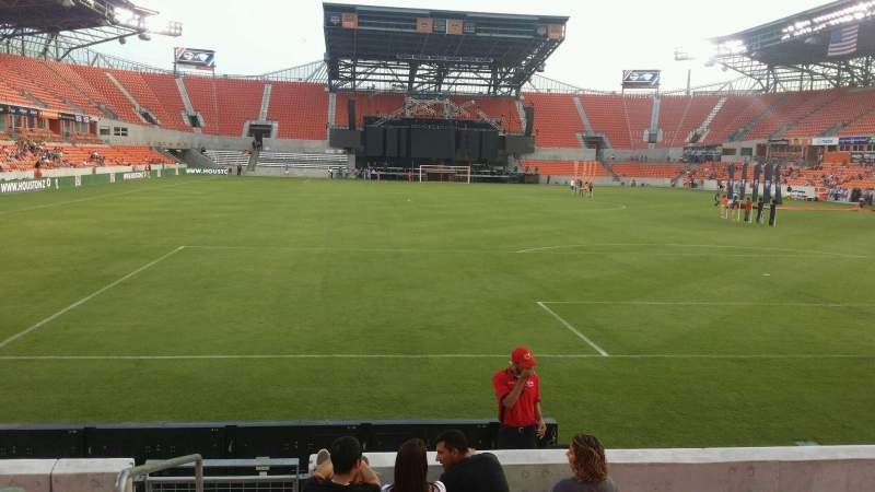 Seating view for BBVA Compass Stadium Section 116 Row g Seat 28