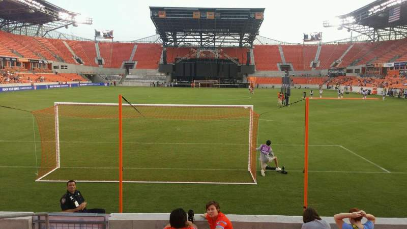 Seating view for BBVA Compass Stadium Section 115 Row g Seat 25
