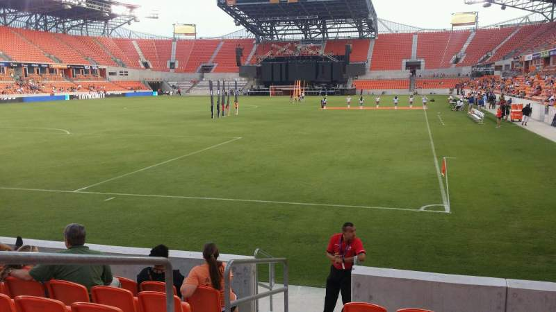 Seating view for BBVA Compass Stadium Section 113 Row g Seat 25