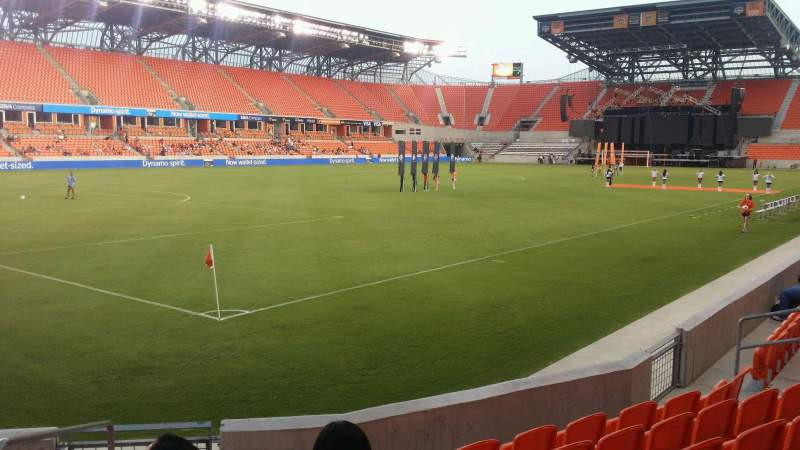 Seating view for BBVA Compass Stadium Section 110 Row g Seat 18