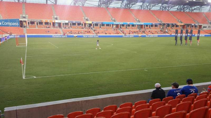 Seating view for BBVA Compass Stadium Section 109 Row g Seat 28