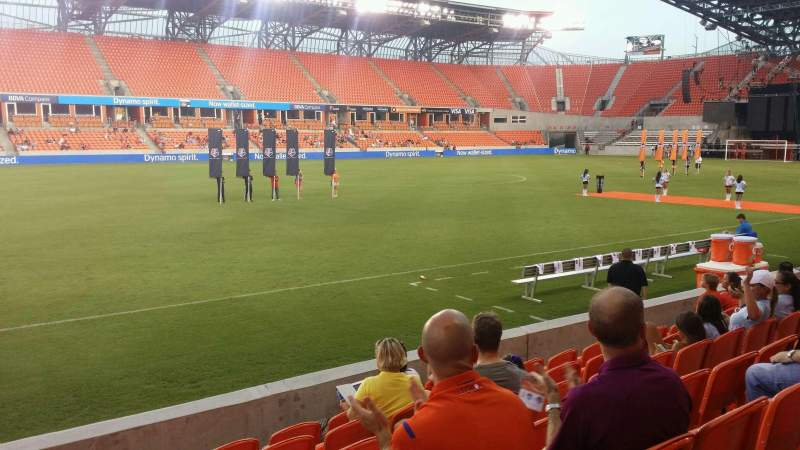 Seating view for BBVA Compass Stadium Section 108 Row g Seat 25