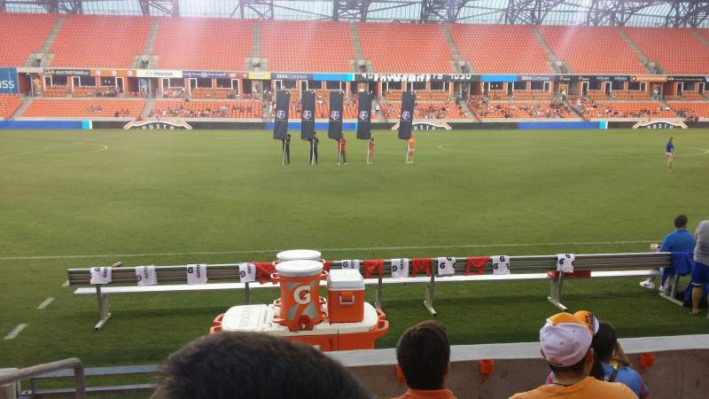 Seating view for BBVA Compass Stadium Section 107 Row e Seat 26
