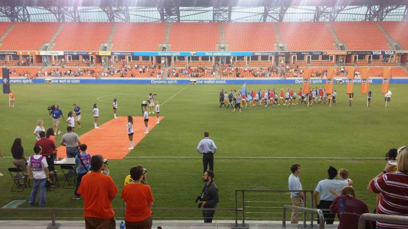 Seating view for BBVA Compass Stadium Section 106 Row h Seat 1