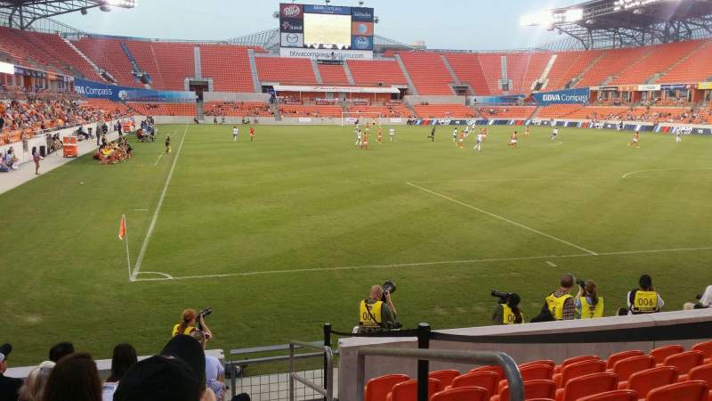 Seating view for BBVA Compass Stadium Section 139 Row h Seat 1