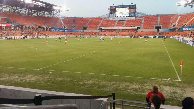 Seating view for BBVA Compass Stadium Section 133 Row f Seat 17