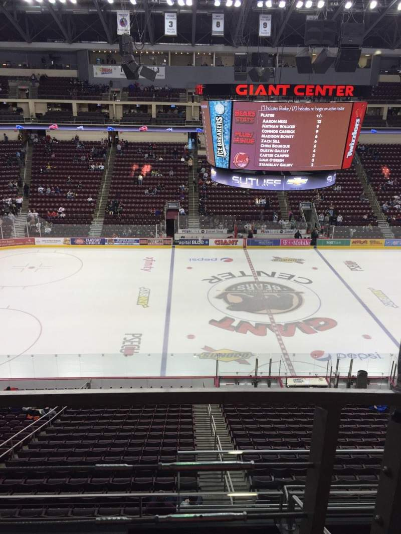Seating view for Giant Center Section 206 Row A Seat 1