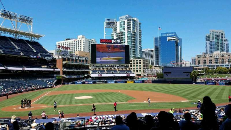 PETCO Park, section: 107, row: 34, seat: 3