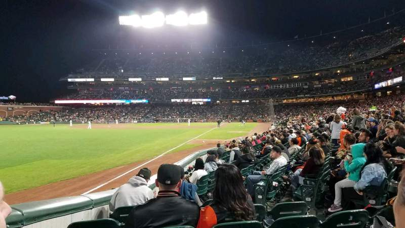 Seating view for Oracle Park Section 130 Row 10 Seat 7
