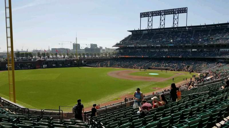 Seating view for Oracle Park Section 232 Row j Seat 17