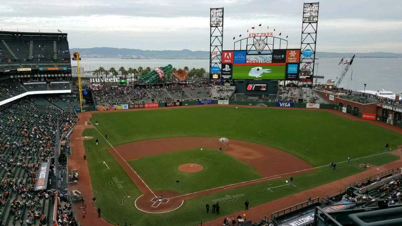 Seating view for Oracle Park Section VR313 Row 1 Seat 4