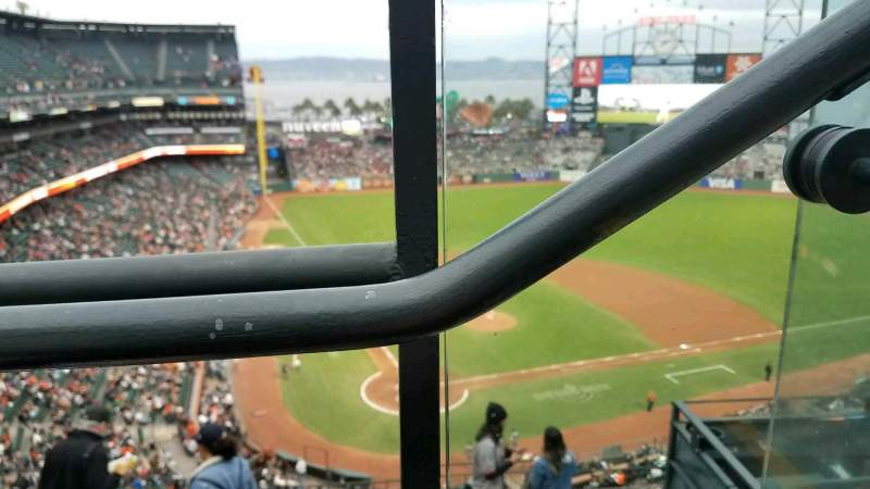 Seating view for Oracle Park Section VR313 Seat 1