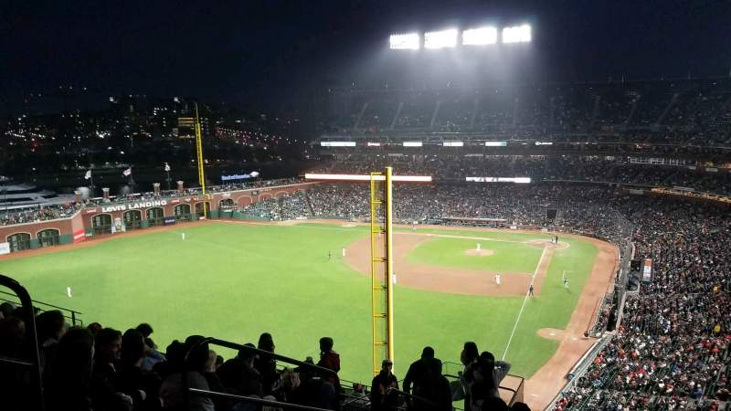 Seating view for Oracle Park Section VR335 Row 9 Seat 17