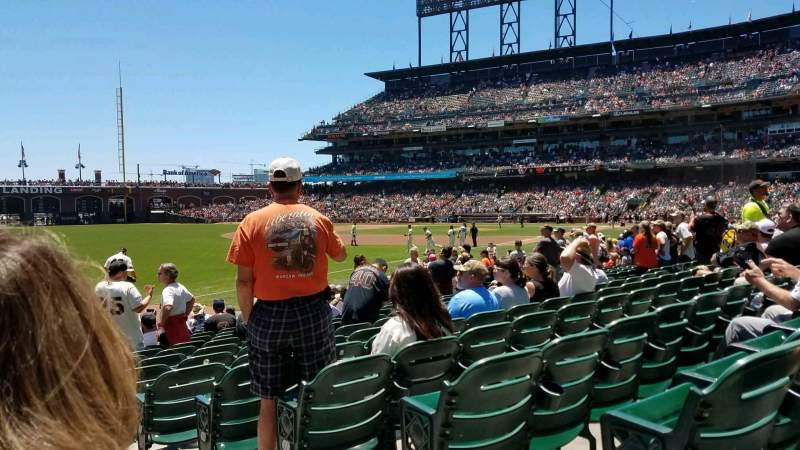 Seating view for Oracle Park Section 130 Row 14 Seat 1