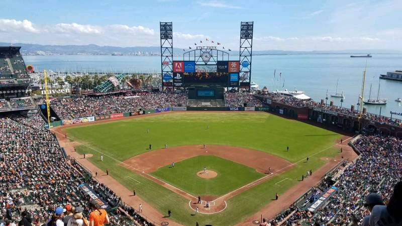 Seating view for Oracle Park Section VR315 Row 18 Seat 13