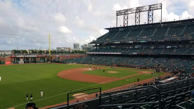 Seating view for Oracle Park Section 229 Row E Seat 4