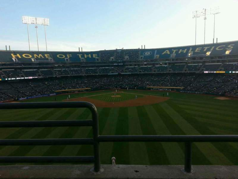 Seating view for Oakland Alameda Coliseum Section 241 Row 2 Seat 16