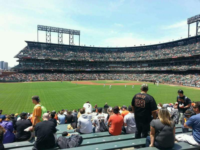 Seating view for AT&T Park Section B141 Row 23 Seat 16