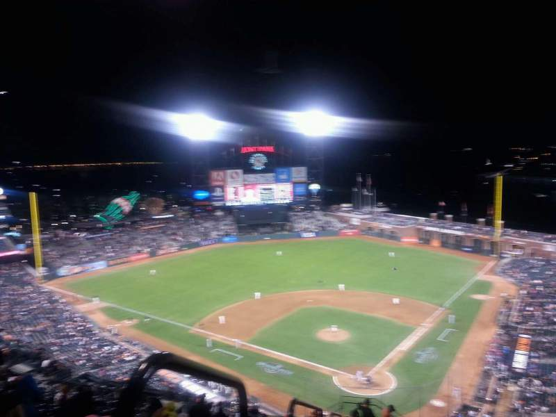 Seating view for AT&T Park Section 317 Row 18 Seat 32