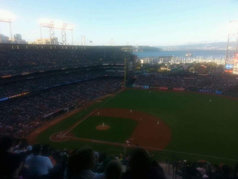 Seating view for AT&T Park Section 307 Row 16 Seat 1