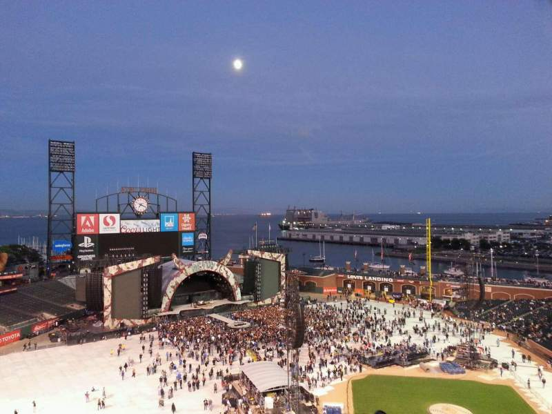 Seating view for AT&T Park Section 323 Row 7 Seat 24