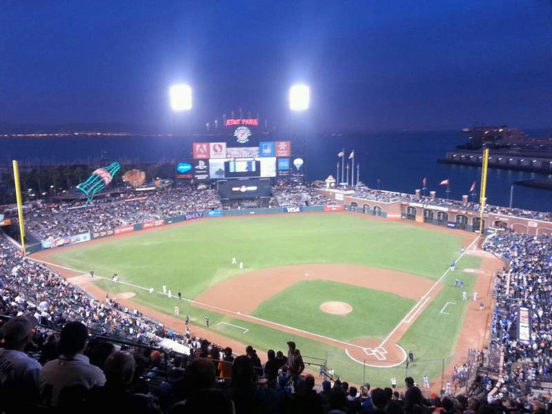 Seating view for AT&T Park Section 318 Row 17 Seat 13