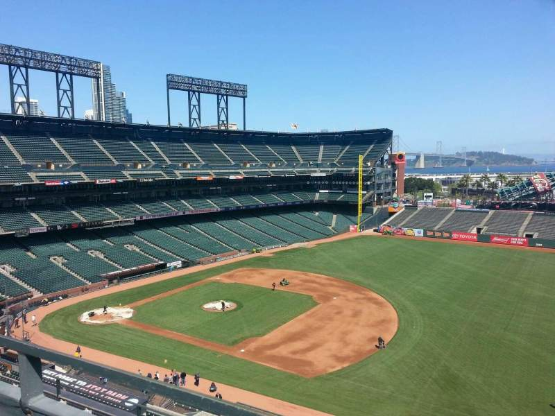 Seating view for AT&T Park Section 304 Row a Seat 7